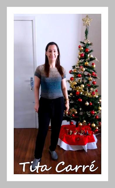 Blusa TopDown em crochet
