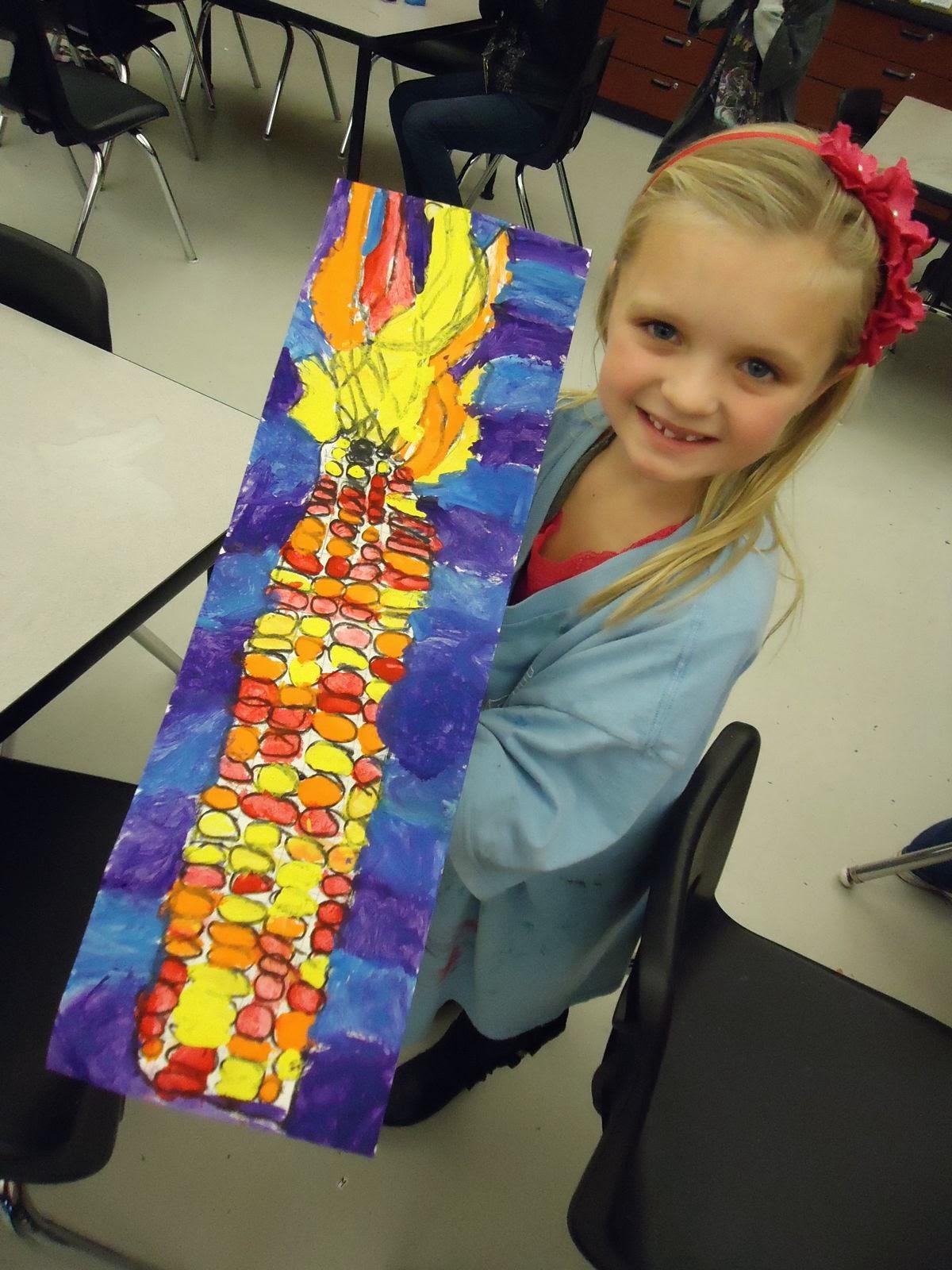 Mini Matisse Warm And Cool Corn Finished Art