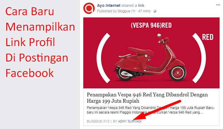 Cara Baru Menampilkan Link Profil Di Postingan Facebook