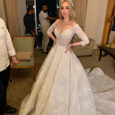 فستان زفاف هنا الزاهد, احمد فهمى, هنا الزاهد, حفل زفاف,
