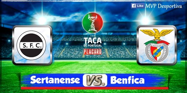 Benfica vence Sertanense por 3-0 e  4.ª eliminatória.