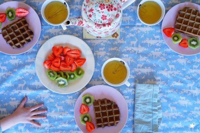 gaufres vegan glutenfree sarrasin noisette petit déjeuner