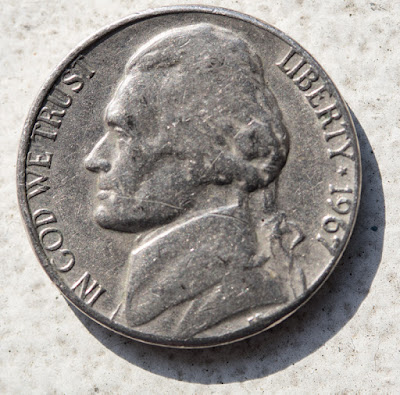 Obverse of 1967 Nickel, Jefferson