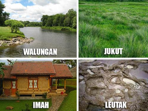 Nama benda sekitar dalam bahasa Sunda