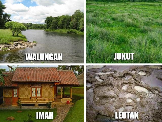 Kosakata Benda-Benda di Alam Sekitar dalam Bahasa Sunda