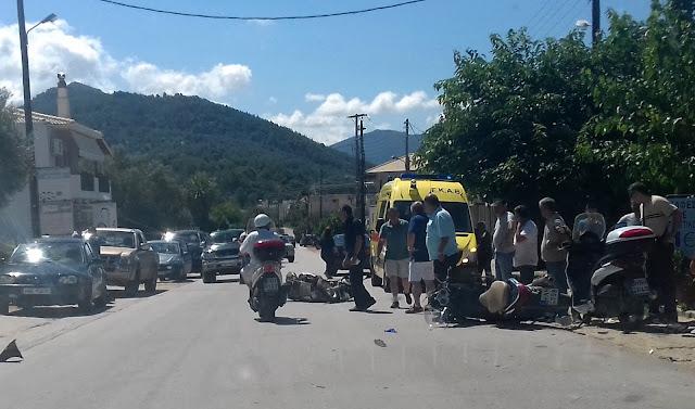 Σφοδρή σύγκρουση μοτοσικλετιστών, έξω από τη Νέα Σελεύκεια, στο δρόμο προς Κεστρίνη