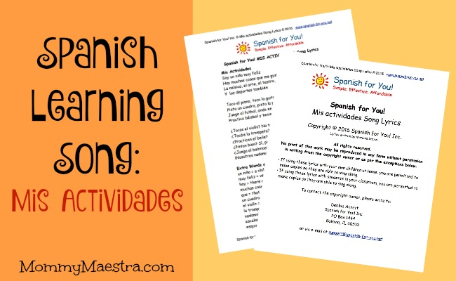 Mommy Maestra: Free Download: Songs for Learning Spanish
