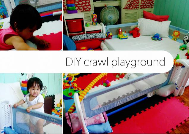 Diy Corporate Mom Starting Play Early Diy A Crawl Playground