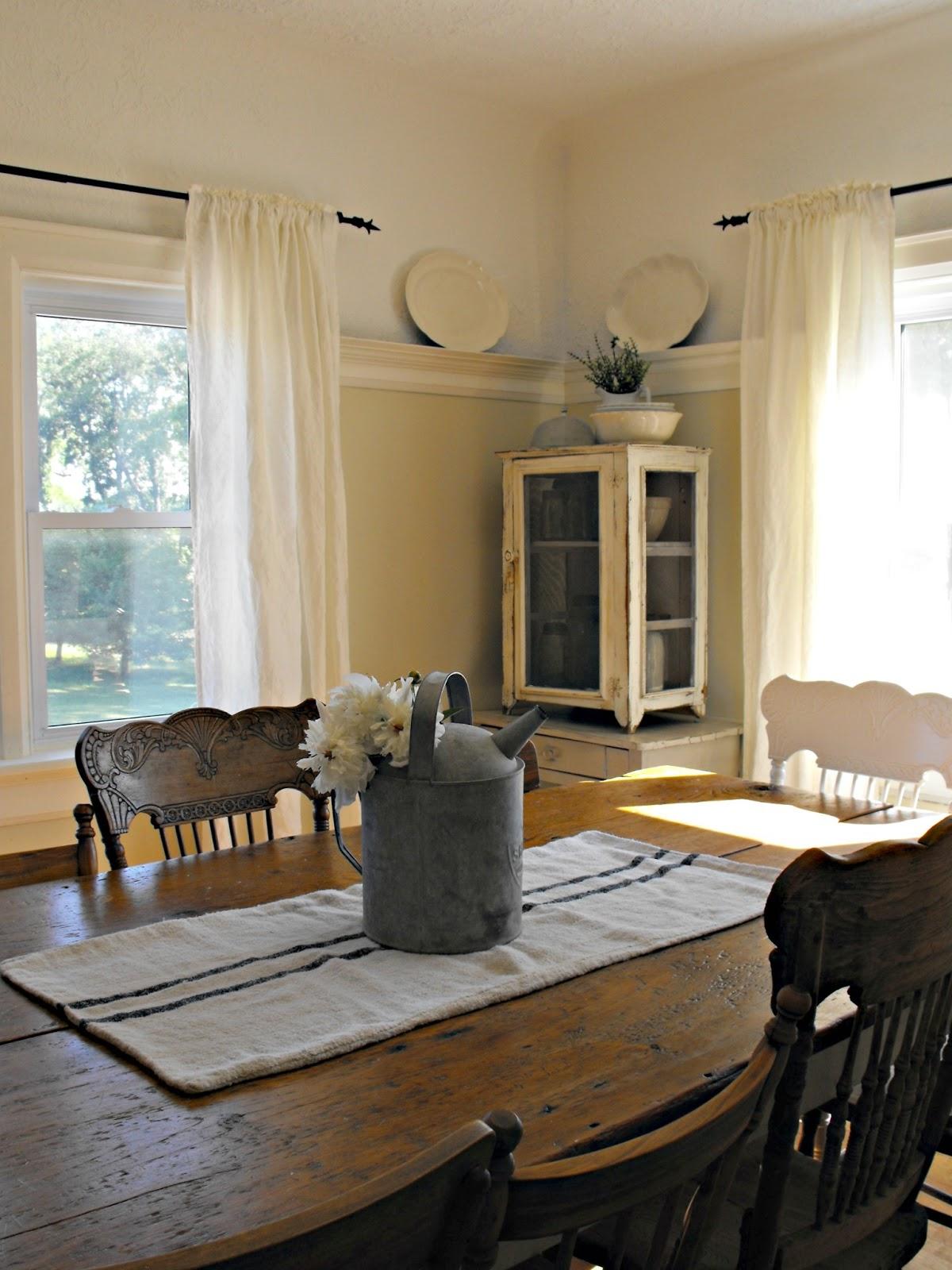 Rustic Farmhouse: My trip to IKEA~100% linen curtains on Farmhouse Dining Room Curtains  id=63036