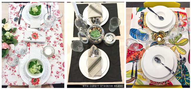 colorful place settings, table top designs, IKEA west chester, #IKEAcatalog