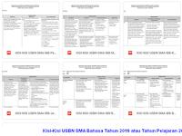 Kisi-Kisi USBN SMA Bahasa Tahun 2019 atau Tahun Pelajaran 2018-2019