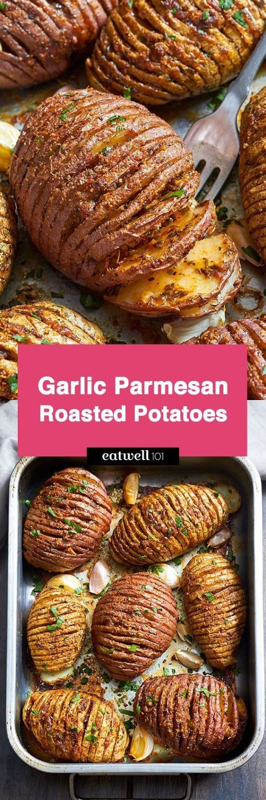 Garlíc Parmesan Butter Roasted Potatoes