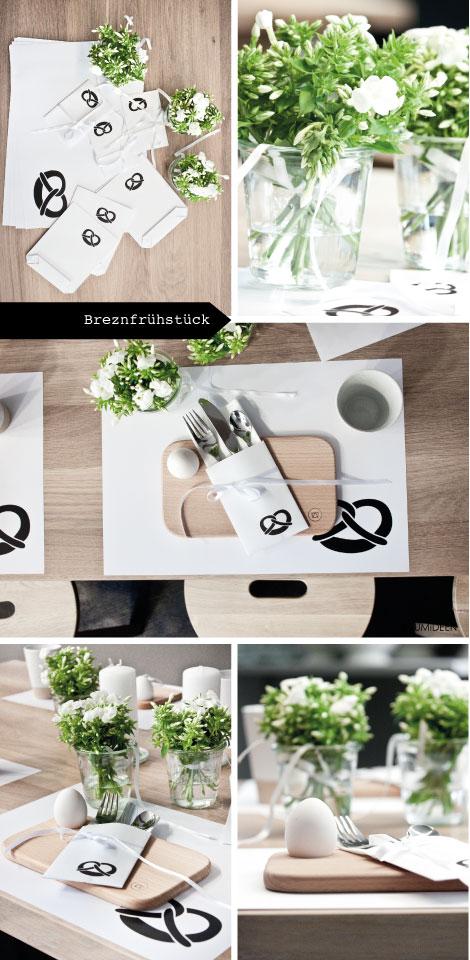 Breznfrühstück, eine Tischdekoration