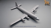 Delta Airlines Douglas DC-6, 1/144  scale model
