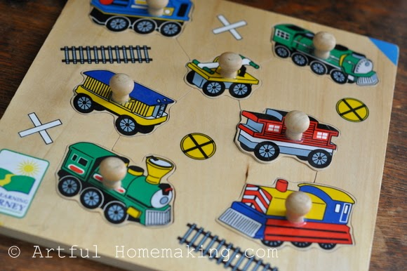 Fine Motor Coordination: Keeping Little Ones Hands Busy. jumbo train puzzle