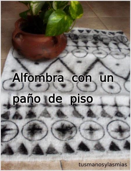 alfombra con un paño de piso-eltallerdejazmin
