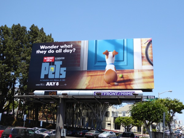 Secret Life of Pets movie billboard