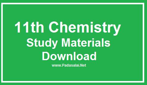 11th Chemistry Study Materials Download - English Medium