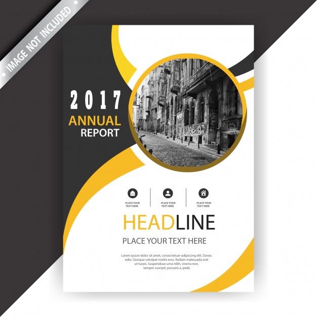 Elegant business brochure Free Vector