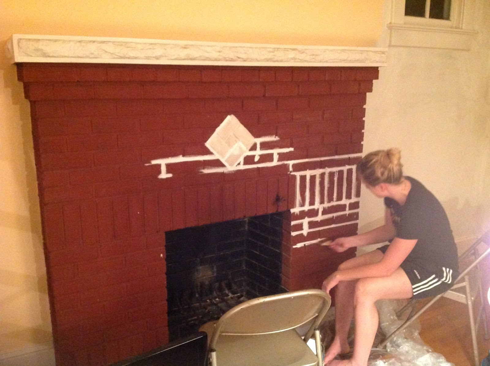 Paint Colors That Go With Red Brick Fireplace Home In The District Modernizing A Red Brick Fireplace
