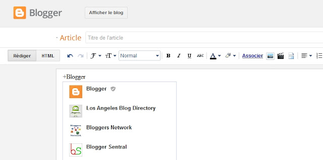mention sur blogger
