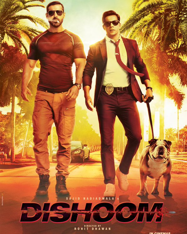 Jacqueline Fernandez, Varun Dhawan, John New Upcoming hindi movie Dishoom Poster, release date