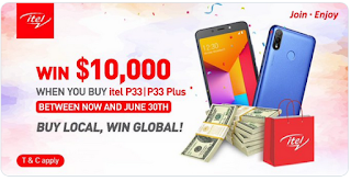 Win A Whooping $10,000 Dollars In The Itel Latest Promo Splash
