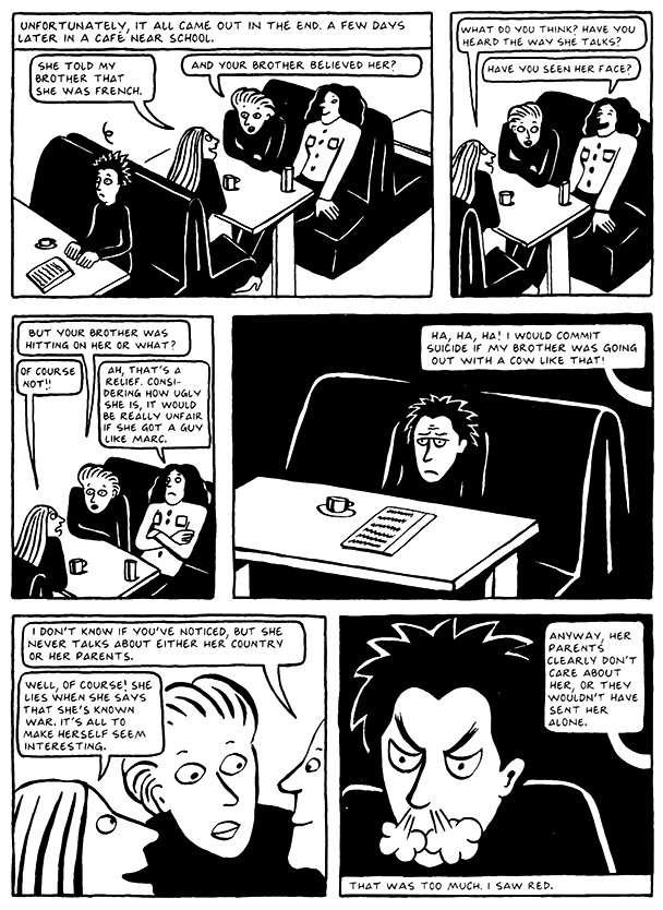 Read Chapter 5 - The Vegetable, page 42, from Marjane Satrapi's Persepolis 2 - The Story of a Return
