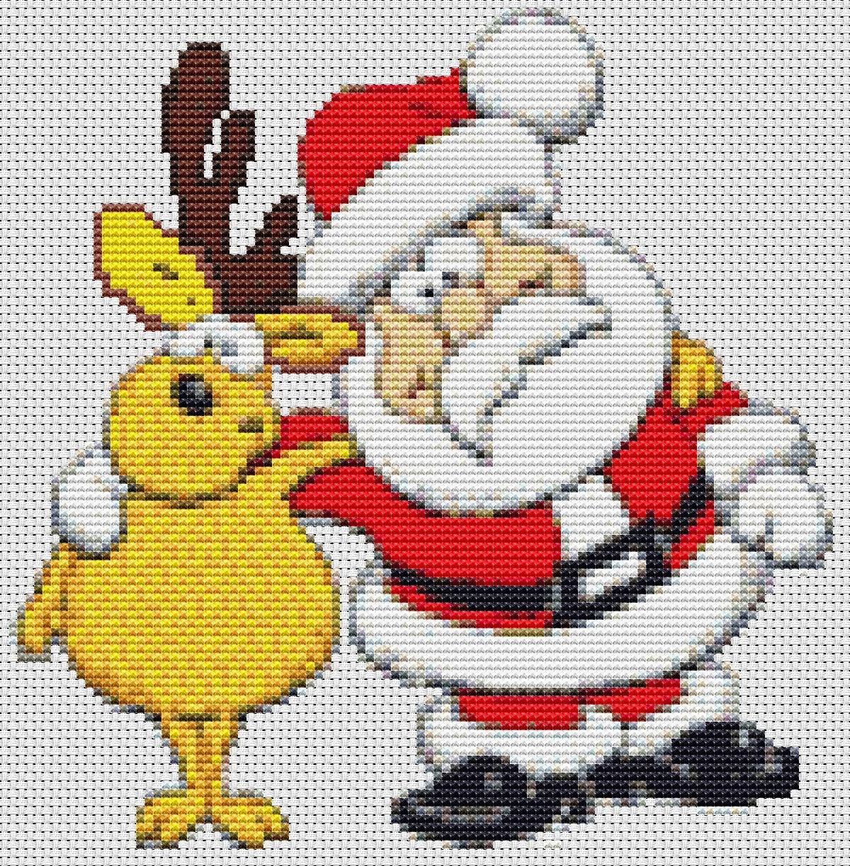 Babbo Natale Punto Croce Schemi Gratis.Immagini Babbo Natale A Punto Croce Disegni Di Natale 2019