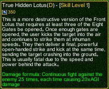 naruto castle defense 6.4 Rock Lee True Hidden Lotus detail