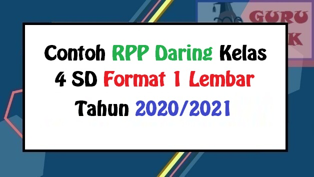 gambar contoh RPP daring kelas IV
