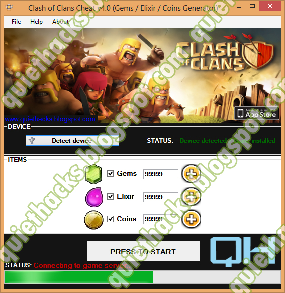 clash of clans unlimited coins and gems generator