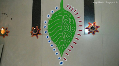 Leaf Design Rangolis