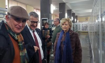 Rector de la Universidad de Oviedo en la Exposición de GRUCOMI en la Escuela de Minas