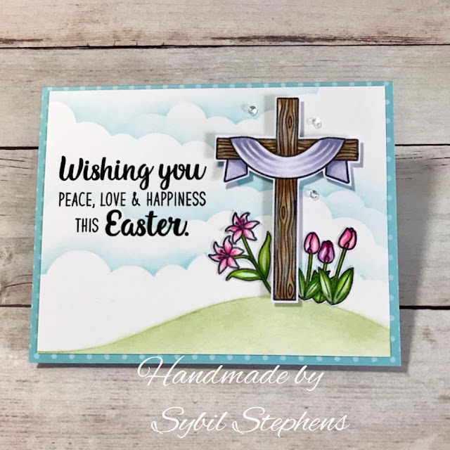 Sunny Studio Stamps: Easter Wishes Customer Card Share by Sybil Stephens