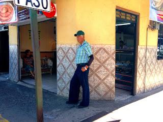 man on street corner in Puriscal