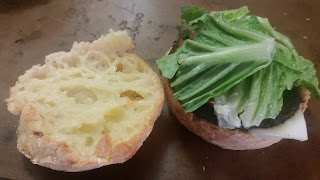 Veggie burger on Chebe bun