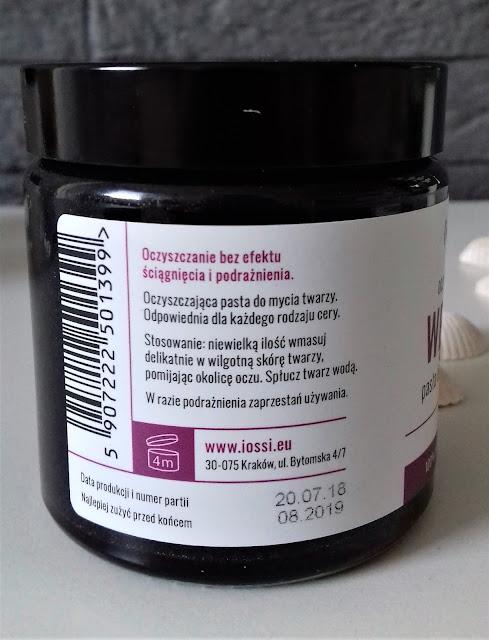Iossi pasta do mycia twarzy oczyszczający węgiel