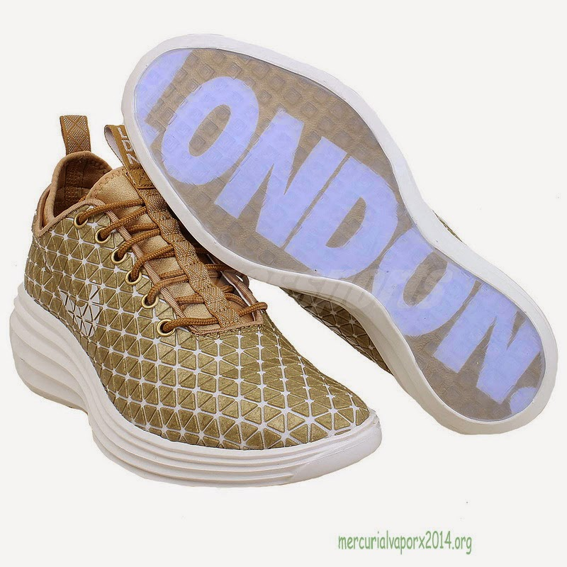 new product ab06d 83c5d July 16, 2014 - Cheryl Cole posted an Instagram picture wearing Nike  LunarElite Sky Hi London Trainers which retail for  150
