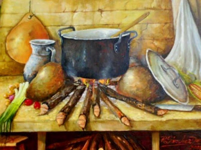 Pintura Moderna y Fotografa Artstica  Imgenes de cuadros de cocinas tpicas campesinas pintadas al leo