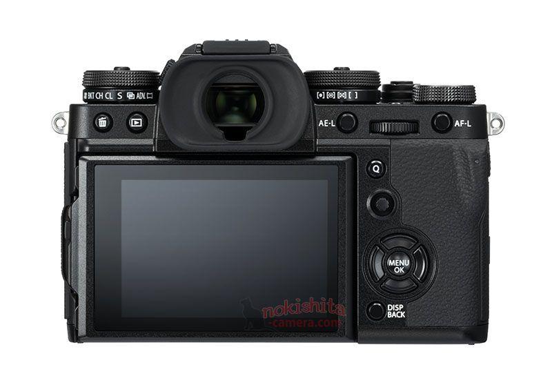 Fujifilm X-T3, вид сзади, черный