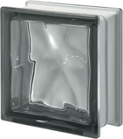 verre gris Nordica ondulé transparent