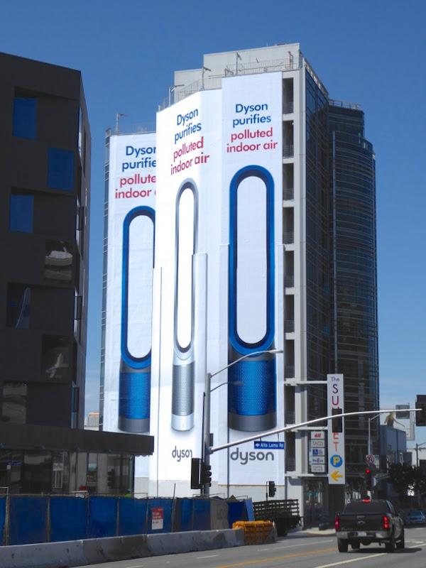 Giant Dyson Purifier billboard