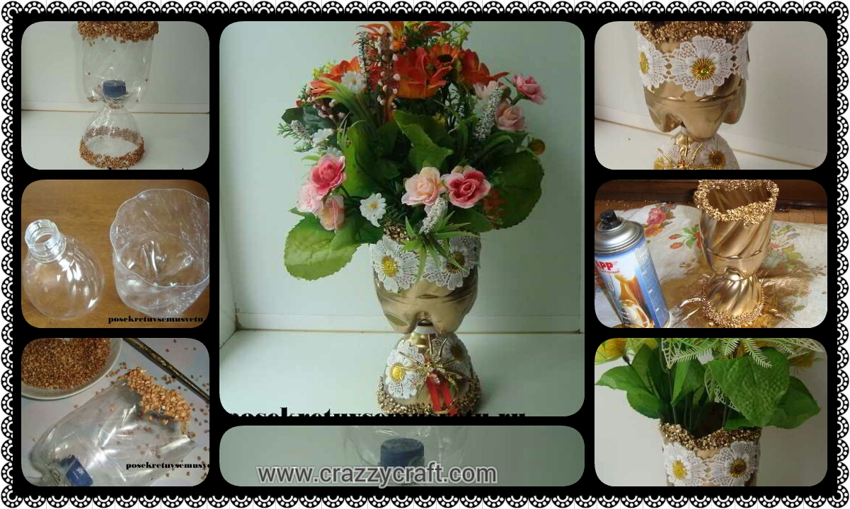 How to make vase from plastic bottle crazzy craft how to make vase from plastic bottle reviewsmspy