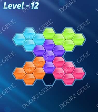 Block! Hexa Puzzle [Rainbow A] Level 12 Solution, Cheats, Walkthrough for android, iphone, ipad, ipod