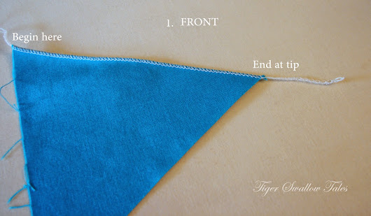 HOW TO SERGE A PERFECT ANGLE OR TIP WITH A ROLLED HEM