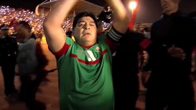 Maradona : Vive le roi, vive le Maroc, vive le Sahara.