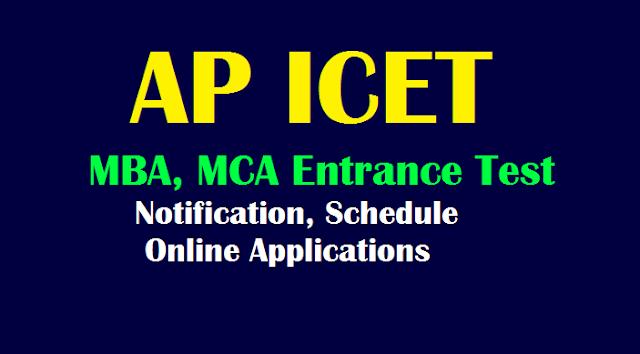 Ap Icet 2019 Mba Mca Entrance Test Notification Schedule