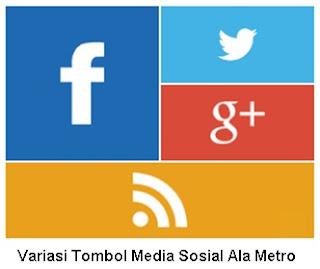 Variasi Icon Media Sosial Ala Metro