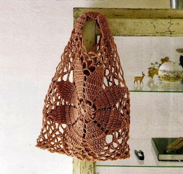 Patrón #1387: Bolso a Crochet